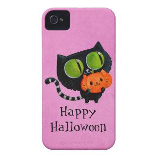 カボチャを持つハロウィンのかわいい猫 Case-Mate iPhone 4 ケース