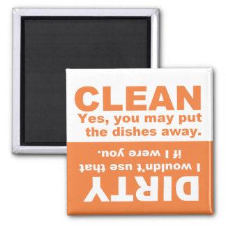 カボチャオレンジきれいな汚れた食洗機の磁石 マグネット