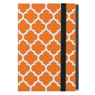 カボチャオレンジ白いモロッコのクローバーパターン#5 iPad MINI ケース