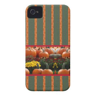 カボチャオレンジ緑の感謝祭の秋の収穫 Case-Mate iPhone 4 ケース