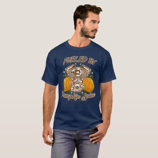 カボチャスパイスによって燃料を供給される Tシャツ