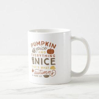 カボチャスパイスの印刷の秋のコーヒー・マグ コーヒーマグカップ