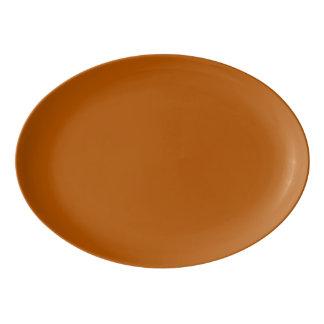 カボチャスパイスの無地 磁器大皿