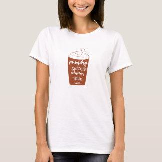 カボチャスパイス及びすべてニースのTシャツ Tシャツ