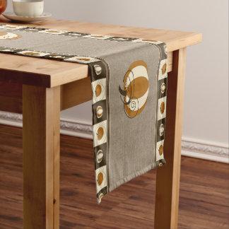 カボチャテーブルのランナー ショートテーブルランナー