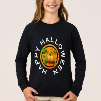 カボチャハロウィンのオレンジワイシャツ スウェットシャツ