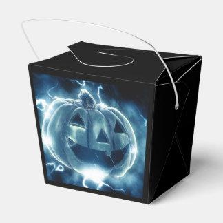 カボチャハロウィン電気青く幸せなGoodie箱 フェイバーボックス