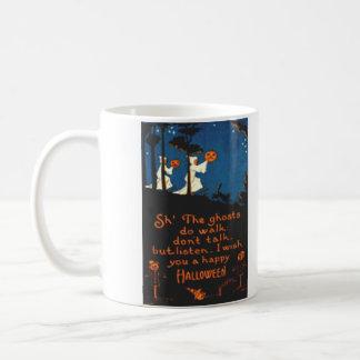カボチャハロウィーンのカボチャのちょうちんの幽霊の黒猫 コーヒーマグカップ