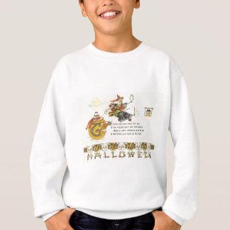 カボチャハロウィーンのカボチャのちょうちんの魔法使いのフクロウの月 スウェットシャツ