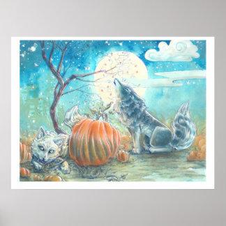 カボチャパッチのオオカミ ポスター