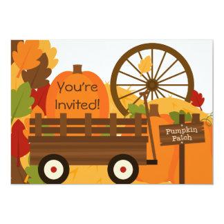 カボチャパッチの感謝祭の夕食の招待状 12.7 X 17.8 インビテーションカード