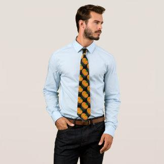 カボチャランプ、黒い対角線 ネクタイ