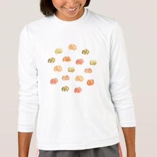 カボチャ女の子のスポーツの長袖のTシャツ Tシャツ