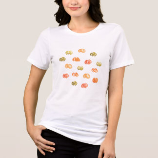 カボチャ女性のリラックスされた適合のジャージーのTシャツ Tシャツ