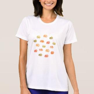 カボチャ女性の性能のTシャツ Tシャツ