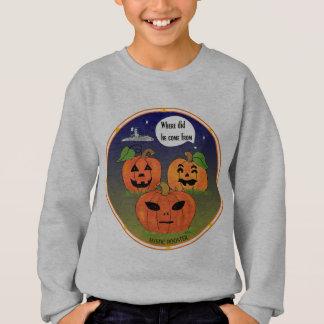 カボチャ子供のハロウィンの外国のワイシャツ スウェットシャツ