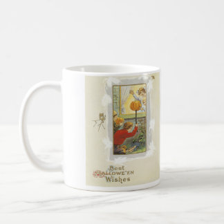 カボチャ子供の悪ふざけのフクロウのこうもり コーヒーマグカップ