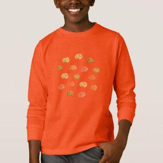 カボチャ子供の長袖のTシャツ Tシャツ