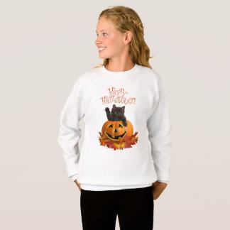 カボチャ子猫 スウェットシャツ