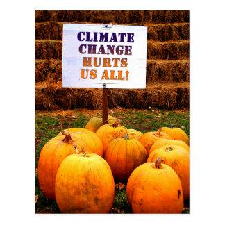 カボチャ抗議の気候変動 ポストカード