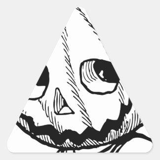 カボチャ頭部 三角形シール