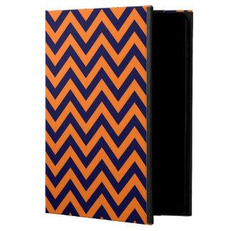 カボチャ、濃紺の大きいシェブロンのジグザグパターン POWIS iPad AIR 2 ケース