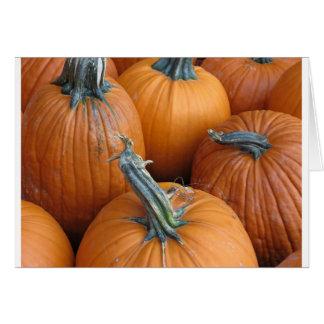 カボチャ、秋、収穫、ハロウィンの豊富、オレンジ、 カード
