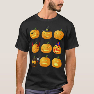 カボチャEmojiのTシャツのハロウィンの衣裳 Tシャツ