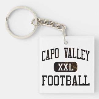 カポの谷のクーガーのフットボール キーホルダー