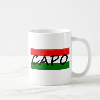 カポ、カポの平均のボス! イタリア語およびスペイン語では、 コーヒーマグカップ