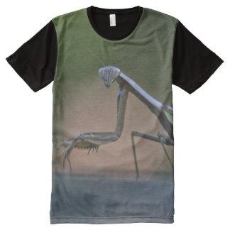 カマキリのTシャツを祈ること オールオーバープリントシャツ