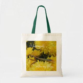 カマキリ及び菊-予算のトート#2 トートバッグ