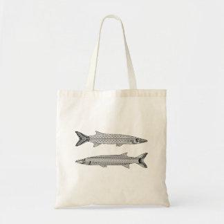 カマスの魚の大人の着色のトートバック トートバッグ