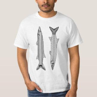 カマスの魚の大人の着色のワイシャツ Tシャツ