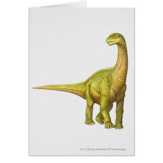 カマラサウルスのイラストレーション カード