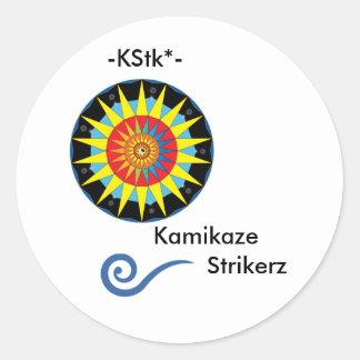 カミカゼのStrikerzのステッカー2 ラウンドシール