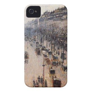 カミーユ著通りのMontmartreの冬の朝 Case-Mate iPhone 4 ケース