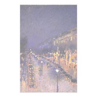 カミーユ・ピサロ夜の通りMontmartre 便箋