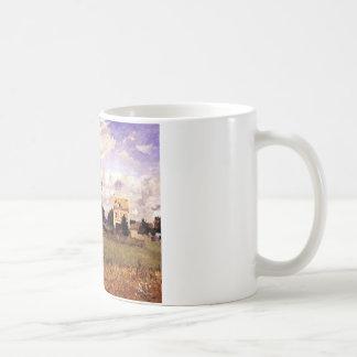 カミーユ・ピサロ著赤い家 コーヒーマグカップ