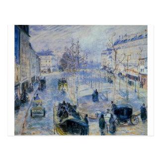 カミーユ・ピサロ著Le Boulevard de Clichy ポストカード