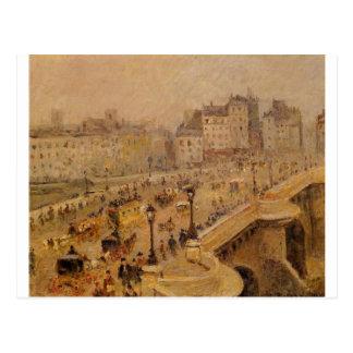 カミーユ・ピサロ著Pont Neufの霧 ポストカード