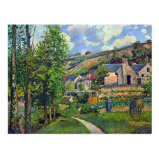カミーユ・ピサロ著Pontoiseの景色 ポストカード