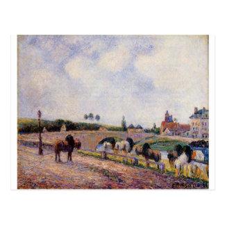 カミーユ・ピサロ著Pontoise橋 ポストカード