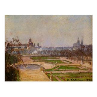 カミーユ・ピサロ著Tuileriesそしてルーバー ポストカード