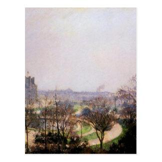 カミーユ・ピサロ著Tuileriesの庭 ポストカード