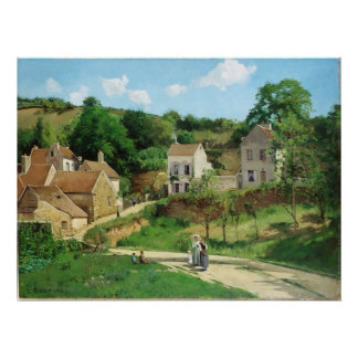 カミーユ・ピサロ-隠者の住処のPontoise 1867の油 ポスター