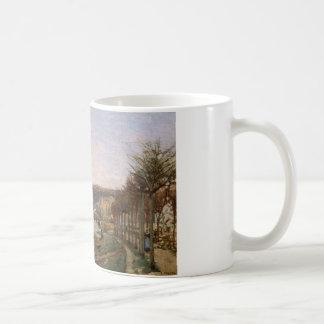 カミーユ・ピサロ- Bougivalのセーヌ河 コーヒーマグカップ