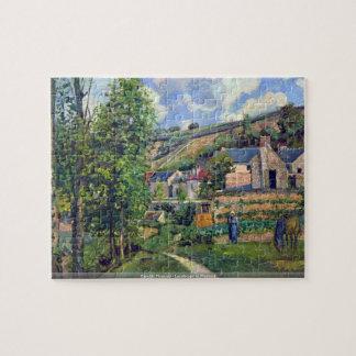 カミーユ・ピサロ- Pontioseのパズルの景色 ジグソーパズル