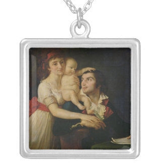 カミーユDesmoulins彼の妻Lucileおよび彼等の シルバープレートネックレス