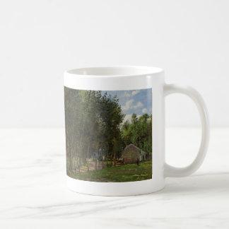 カミーユPissarro-森林の家 コーヒーマグカップ